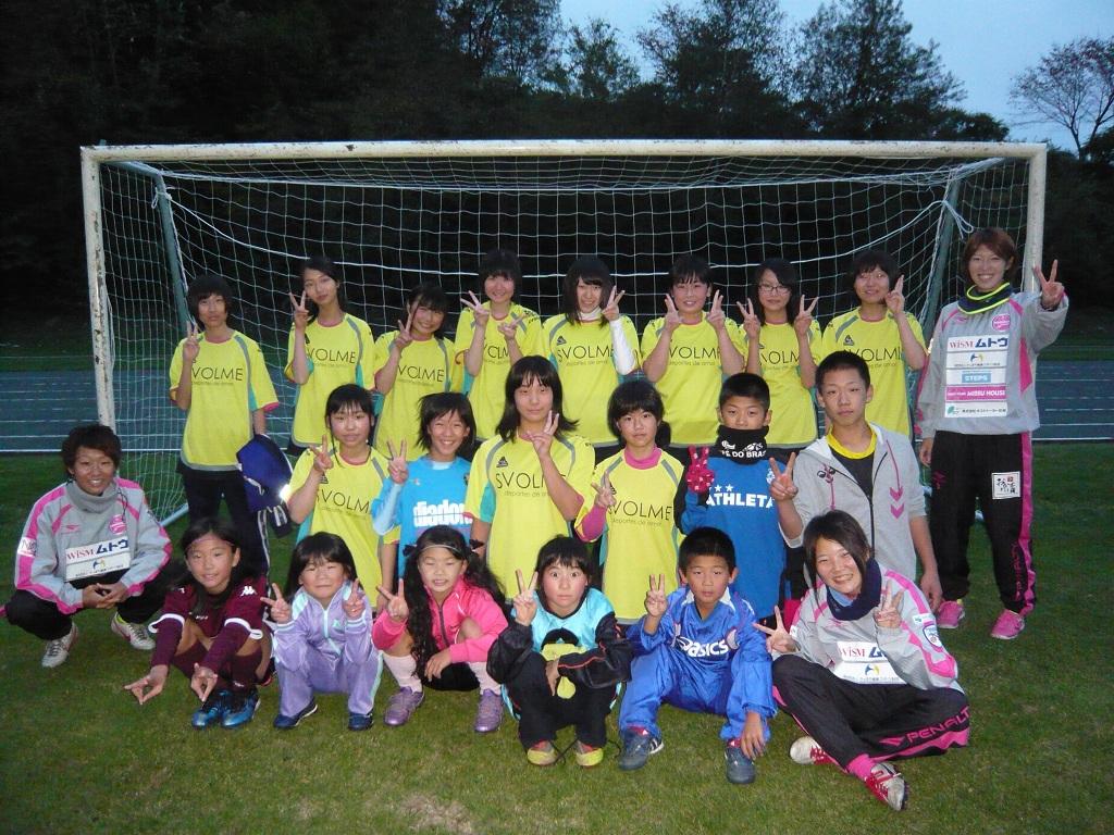 白老町女子サッカー部の選手たち
