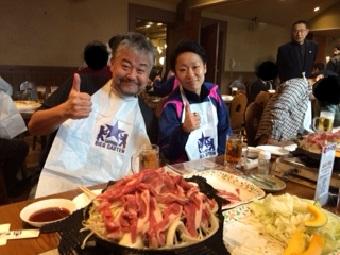 ハチ代表と7MFがっちゃん、こと、渡邉選手。楽しかったね!みんな、ありがとう!(^^)
